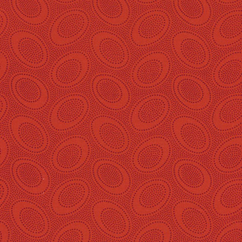 "Kaffe Fassett GP71 Aboriginal Dot Red Polka Dots Tonal FQ FAT Quarter Rowan Westminster Fasset Collective 18""x22"" Classic Quilt Fabric"