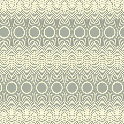 "PWPG015 Parson Gray Seven Wonders Clouds Mist Circles Quilting 18"" BTHY Rowan Westminster Half Yard 18"" Quilt Fabric HY Floral Mod Modern"