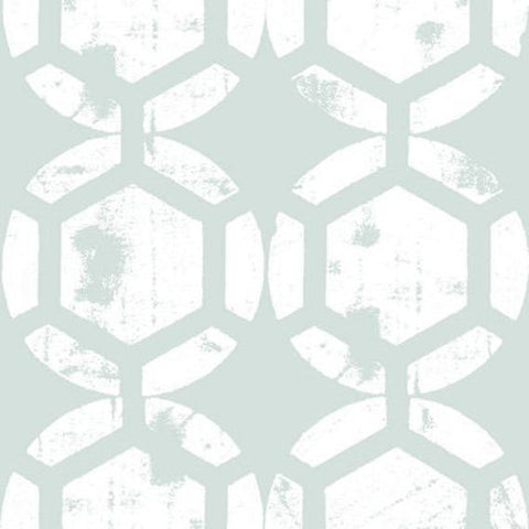 "HDTY13.ICEXX Ty Pennington Impressions 2 Honeycomb Ice Wide HOME Dec Designer Quilting 55"" HY Rowan Westminster Half Yard 18"" Sewing Fabric"