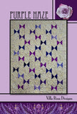 "PURPLE HAZE 42""X53"" 5"" Charms Patchwork Easy Fast Quilt Top Kit In a Day w binding Quilting Fabric Kit Kaffe Fassett Shot Cotton Woven KFC"