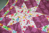 "42"" Umbrellas Girls Girl KIds Star Patchwork Handcrafted Quilt Reversible Crib Throw Accent Baby Gift Flannel Backing Children's"