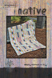 "Sale NATIVE 34""x48"" Tula Pink Deer Amy Butler FQ Fat Quarter Friendly Patchwork Easy Fast Quilt Top Kit In a Day w binding Quilting Fabric"