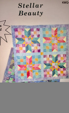 "STELLAR BEAUTY Kate Mitchell Strip-Friendly Jelly Roll 38"" Tabletopper Quilt Patchwork Quilting Pattern Scrap-Friendly Easy Sewing Beginner"
