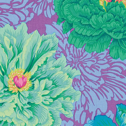 "Philip Jacobs PWPJ062 Brocade Peony Green Kaffe Fassett Collective Designer Quilting 18"" BTHY Rowan Westminster Half Yard 18"" Quilt Fabric"