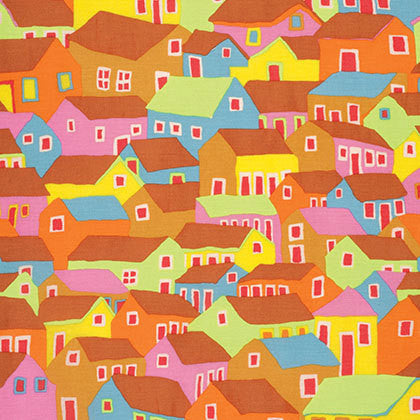"Brandon Mably PWBM047 Shanty Town Ochre Kaffe Fassett Collective Designer Quilting 18"" BTHY Rowan Westminster Half Yard 18"" Quilt Fabric HY"