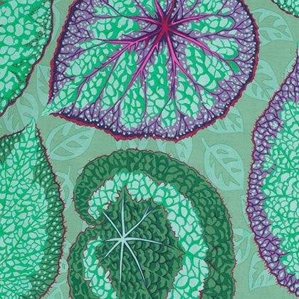 "Philip Jacobs PWPJ070 Big Leaf Mint Green Kaffe Fassett Collective Designer Quilting 18"" BTHY Rowan Westminster Half Yard 18"" Quilt Fabric"