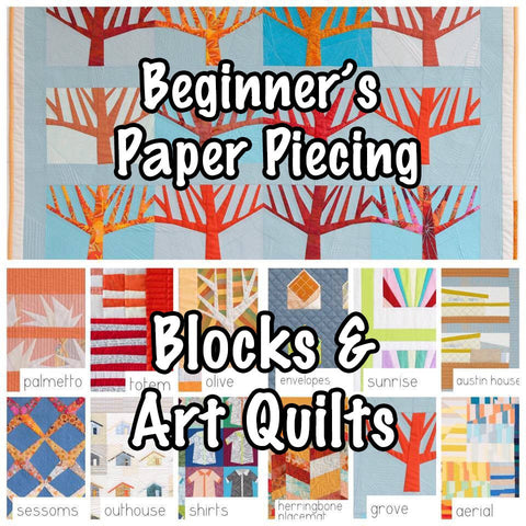 BEGINNER PAPER-PIECING Carolyn Friedlander theme Facebook Monthly Quilt-Along Club w/ Fabric Quilt Block Kits U S A  Pattern Sewing Quilting
