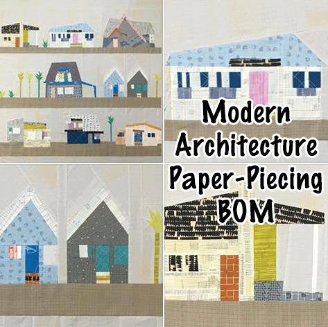 Modern Architecture Carolyn Friedlander The Local Facebook Monthly Quilt-Along Club w Fabric Quilt Block Kits U S A  Pattern Sewing Quilting