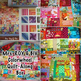 Mrs ROY G BIV Scrappy Colorwheel Facebook Monthly Quilt-Along Club Fabric Quilt Block Kits USA Pattern Sewing Quilting Project Subscription