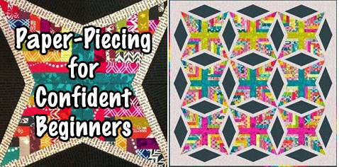 Confident Beginners Paper-Piecing Facebook Monthly Quilt-Along Club Fabric Quilt Block Kits USA Pattern Sewing Quilting Project Subscription