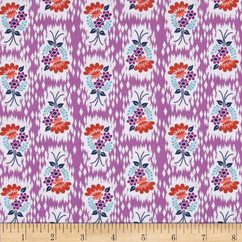"PWAH086.HEATH Honor Roll Anna Maria Horner Hand Picked Heather Quilting 18"" BTHY Rowan Westminster Half Yard 18"" Quilt Fabric HY Floral"