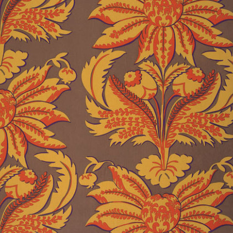 "Brandon Mably BM002 Brandon's Brocade Brown HOME Dec Kaffe Fassett KFC Designer Quilting 55"" wide HY Rowan Westminster Half Yard 18"" Fabric"
