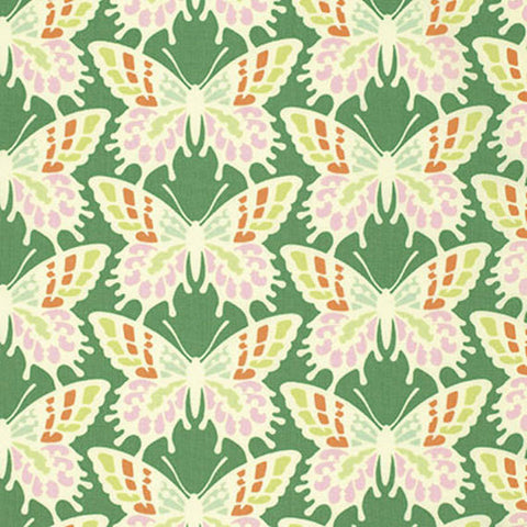 "PWHB055.JADEX Heather Bailey Clementine Flutterby Butterfly Jade Quilting 18"" BTHY Rowan Westminster Half Yard 18"" Quilt Fabric HY Floral"