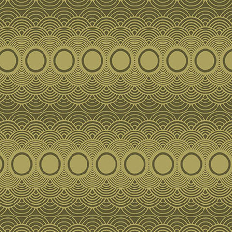 "PWPG015 Parson Gray Seven Wonders Clouds Moss Circles Quilting 18"" BTHY Rowan Westminster Half Yard 18"" Quilt Fabric HY Floral Mod Modern"