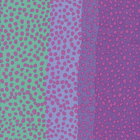 "Kaffe Fassett GP117 Classic Ombre Dots Dot Blue Multicolor FQ FAT Quarter Rowan Westminster Fasset Collective 18""x22"" Classic Quilt Fabric"