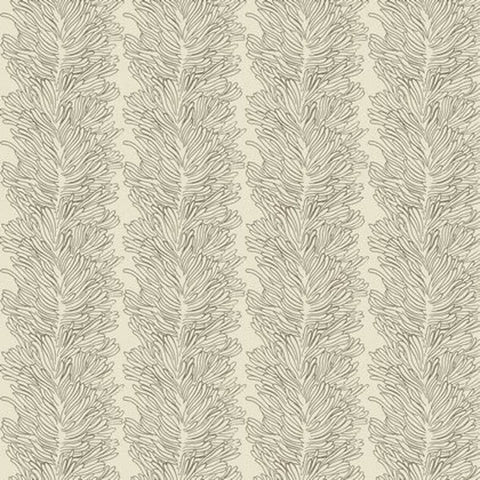 "SAPG005 Coral Reef Bone Parson Gray Feathers Curious Nature 55"" Wide HOME Dec Designer Quilting HY Half Yard 18"" Quilt Sewing Fabric"