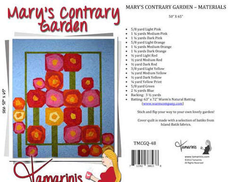Mary's Contrary Garden Tamarinis Tammy Silvers Stitch 'n' Flip Scrappy Patchwork Quilt Quilting Pattern Scrap Friendly Intermediate Sewing