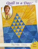 THE NILE Eleanor Burns Quilt In a Day 2 Sizes Patchwork Quilting Pattern Sewing Beginner Easy Fast BEGINNER Speed Piecing Modern Traditional