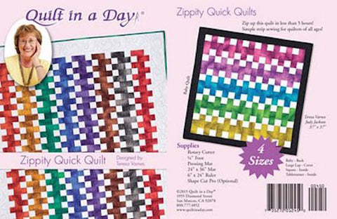 ZIPPITY QUICK 5 hr. Eleanor Burns Quilt In a Day Patchwork Quilting Pattern Sewing Beginner Fast BEGINNER Speed Piecing Modern Traditional