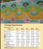 SUNSET 5 sizes Carolina Patchworks Patchwork Quilt Quilting Pattern Modern Sewing Emily Cier no. 68 Curves Intermediate Mod Scallops