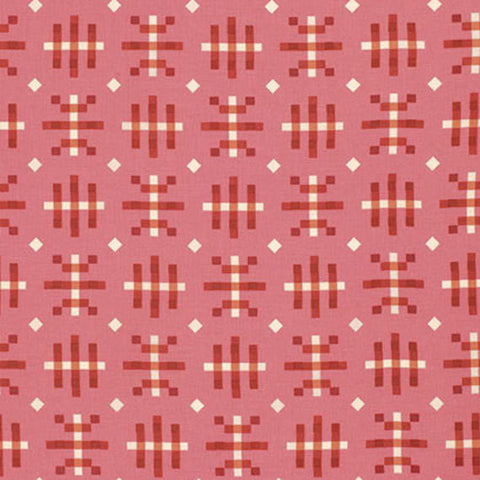 "PWAH080 Anna Maria Horner Honor Roll Misguided Gingham Strawberry Quilting 18"" BTHY Rowan Westminster Half Yard 18"" Quilt Fabric HY Floral"