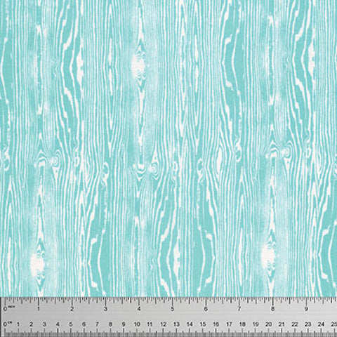 "Joel Dewberry Woodgrain Aqua Blue PWTC008 Wood True Colors Westminster Fibers Sewing Quilting Quilt 18"" BTHY Half Yard Quilt Fabric HY"