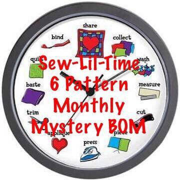 Mystery SEW Lil Time BOM Facebook Monthly Quilt-Along Club Fabric Quilt Block Kits USA Pattern Sewing Quilting Project Subscription