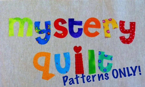 Mystery PATTERNS ONLY 4 per Month Facebook Monthly Quilt-Along Club Quilt Block Top USA Pattern Sewing Quilting Project Subscription
