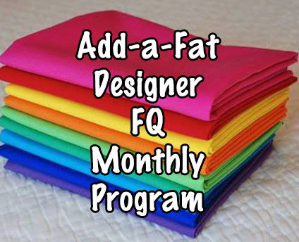 Add-a-Fat FQ Fat Quarter Fabric Facebook Monthly Quilt-Along Club Quilt BOM USA Pattern Sewing Quilting Project Subscription