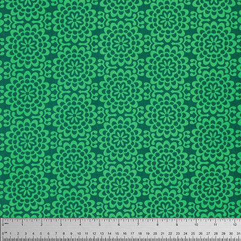 "Amy Butler PWTC022 True Colors Wallflowers Grass Green Mod Quilting 18"" BTHY Rowan Westminster Half Yard 18"" Quilt Fabric HY Mod Modern"