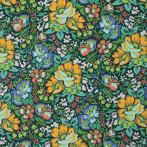 "PWAH083 Anna Maria Horner Honor Roll Overachiever Forest Floral Quilting 18"" BTHY Rowan Westminster Half Yard 18"" Quilt Fabric HY Floral"
