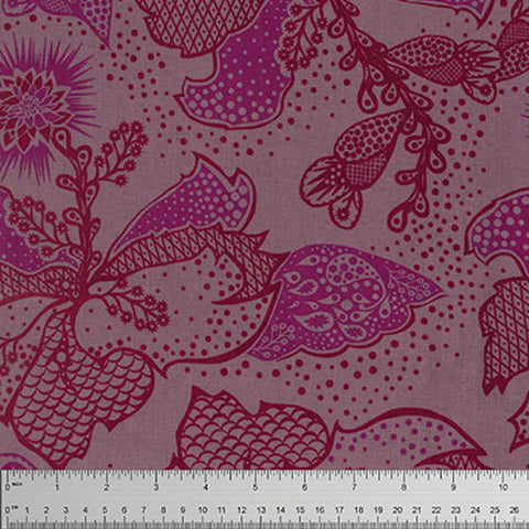 "Anna Maria Horner PWTC031 Filigree Cherry Floral True Colors BTHY Half Yd 18"" Freespirit Quilting Quilt Sew Sewing Fabric"
