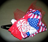 "Patriotic ""Our Flag Was Still There"" Hair Clip Team USA Olympics Barrette Girls Child's Kids"