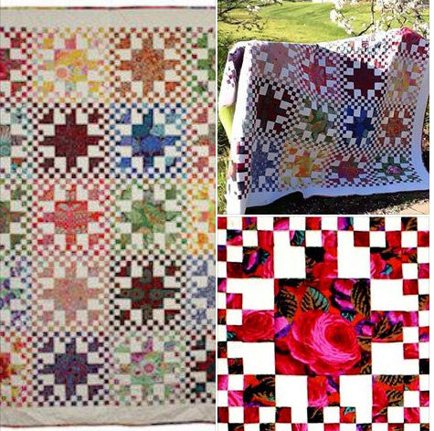 Club 2 Rainbow Checks Quilt Facebook Monthly Quilt-Along USA Kaffe Fassett Collective DESIGNER Fabric Block Kit Pattern FB Sew