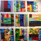 Club 6 ROYGBIV Scrappy Mile-A-Minute Quilt Facebook Monthly Quilt-Along USA Kaffe Fassett Jacobs Negley Fabric Block Kit Pattern FB Sew Fun