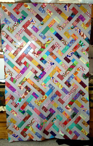 Club 5 Scrappy PB&J Quilt Facebook Monthly Quilt-Along USA Kaffe Fassett Freesprit Amy Butler Anna Horner Fabric Block Kit Pattern FB Sew