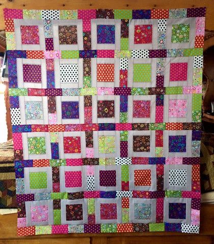 Club 4 FB Monthly Quilt-Along Facebook Club U.S.A. w/ Kaffe Fassett Collective Paperweight Roman Glass Fabric KIT Pattern Shot Cottons Woven