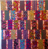 "Pristine Kaffe Fassett 45""x48"" Patchwork EASY FAST Quilt Kit Martha Negley Brandon Mably Philip Jacobs w/ Backing Complete"