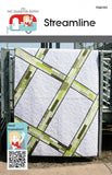 STREAMLINE Modern Minimalistic Fat Quarter Friendly Patchwork Quilt Quilting 6 Sizes Pattern Unisex Masculine FQ Gypsy FQG105