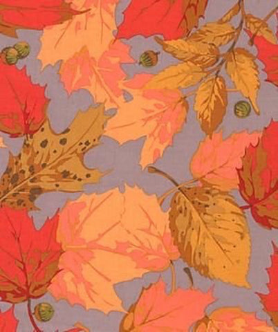 "Martha Negley PWMN089 Seasons Autumn Red Quilting 18"" BTHY Nature Rowan Westminster Half Yard 18"" Quilt Fabric HY BHY"