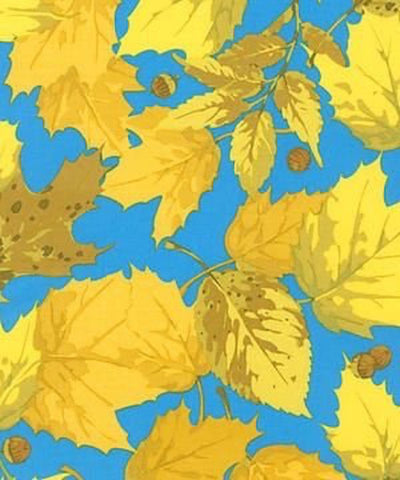"Martha Negley PWMN089 Seasons Autumn Yellow Quilting 18"" BTHY Nature Rowan Westminster Half Yard 18"" Quilt Fabric HY BHY"
