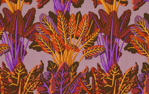 "PWGP128 Chard Autumn Veggies Leaves Kaffe Fassett Collective Designer Quilting 18"" BTHY Rowan Westminster Half Yard 18"" Quilt Fabric New"