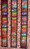 "Melody 56""x71"" Patchwork EASY FAST Quilt Top In A DAY Kit Autumn Kaffe Fassett Martha Negley Brandon Mably Philip Jacobs w/ Backing"