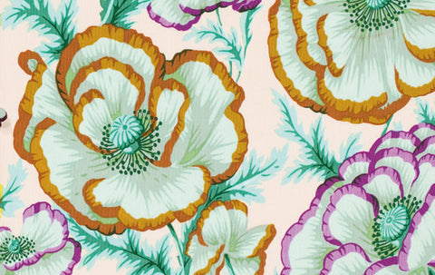 "Philip Jacobs PWPJ059 Banded Poppy Peach Kaffe Fassett Collective Designer Quilting 18"" BTHY Rowan Westminster Half Yard 18"" Quilt Fabric"