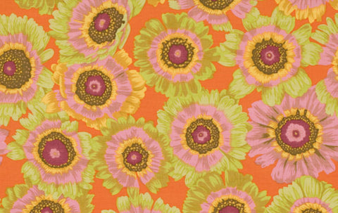 "Philip Jacobs PWPJ057 Painted Daisy Citrus Kaffe Fassett Collective Designer Quilting 18"" BTHY Rowan Westminster Half Yard 18"" Quilt Fabric"