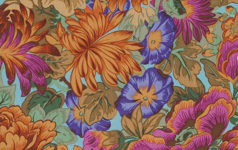 "Philip Jacobs PWPJ064 Lavinia Autumn Foral Kaffe Fassett Collective Designer Quilting 18"" BTHY Rowan Westminster Half Yard 18"" Quilt Fabric"