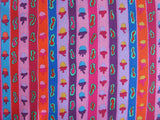 "Kaffe Fassett Ribbon Stripe Red PWGP137 Collective Floral New BTHY Rowan Westminster Fasset Half Yard 18"" Quilt Fabric"