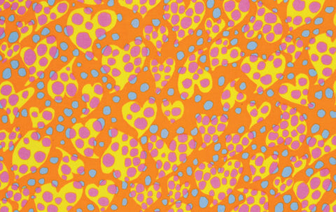 "Brandon Mably PWBM033 Disco Dot Orange Kaffe Fassett Collective Designer Quilting 18"" BTHY Rowan Westminster Half Yard 18"" Quilt Fabric HY"