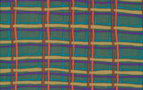"Brandon Mably BM26 Green Plaid New Rare Kaffe Fassett Collective Designer Quilting 18"" BTHY Rowan Westminster Half Yard 18"" Quilt Fabric HY"