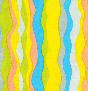 "Brandon Mably BM04 Waves Stripe Summer Kaffe Fassett Collective Designer Quilting 18"" BTHY Rowan Westminster Half Yard 18"" Quilt Fabric HY"